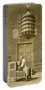 Cairo Funerary Or Sepuchral Mosque Portable Battery Charger by Emile Prisse d'Avennes
