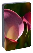 Cala Lilies Light And Shadow Portable Battery Charger