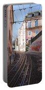 Calcada Da Gloria Street In Lisbon Portable Battery Charger