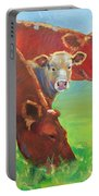 Calf And Cows Painting Portable Battery Charger