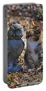 Calico Cat And Obtuse Owl Portable Battery Charger by Al Powell Photography USA