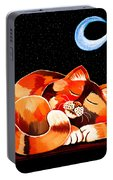 Calico In The Moonlight Portable Battery Charger