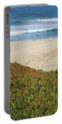 California Beach With Ice Plant Portable Battery Charger by Carol Groenen