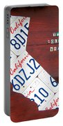 California License Plate Map Portable Battery Charger