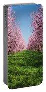 California Peach Tree Orchard  Portable Battery Charger