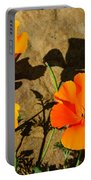 California Poppies - Crisp Shadows From The Desert Sun  Portable Battery Charger