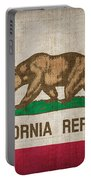 California State Flag Portable Battery Charger by Pixel Chimp