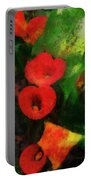 Calla Lilies Photo Art 03 Portable Battery Charger by Thomas Woolworth