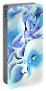Calla Lilly So Soft Lilac And Blue Portable Battery Charger