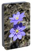 Calling Spring. Two Violets Portable Battery Charger