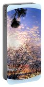 Calm December Sunset Portable Battery Charger