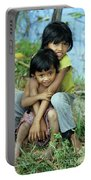 Cambodian Children 02 Portable Battery Charger