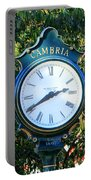 Cambria Square Time Clock Portable Battery Charger