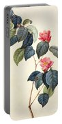 Camellia Japonica Portable Battery Charger by Pierre Joseph Redoute