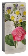 Camellias Narcissus And Pansies Portable Battery Charger