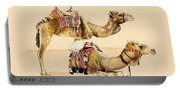 Camels From Petra Portable Battery Charger