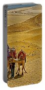 Camels Nuzzling On The Giza Plateau-egypt  Portable Battery Charger