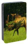 Camoflaged Elk With Shadows Portable Battery Charger