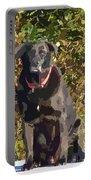 Camouflage Labrador - Black Dog - Retriever Portable Battery Charger