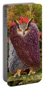 Camouflaged Owl Portable Battery Charger