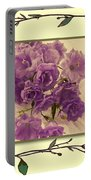 Campanula Framed With Pressed Petals Portable Battery Charger