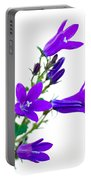 Campanula Flowers Portable Battery Charger