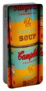 Campbell's Soup Retro Andy Warhol Portable Battery Charger