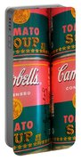 Campbell's Tomato Soup Pop Art Portable Battery Charger