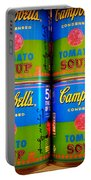 Campbell's Tomato Soup Retro Andy Warhol Portable Battery Charger