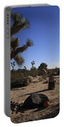 Camping In The Desert Portable Battery Charger
