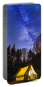 Camping Under The Milky Way Portable Battery Charger
