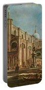 Campo Dei Santi Giovanni E Paolo And The Scuola Grande Di San Marco, Venice Oil On Canvas Portable Battery Charger