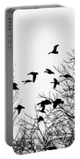 Canada Geese Flight Silhouette Portable Battery Charger
