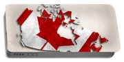 Canada Map Art With Flag Design Portable Battery Charger