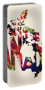 Canada Typographic Watercolor Map Portable Battery Charger by Inspirowl Design