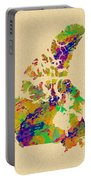 Canada Watercolor  Portable Battery Charger