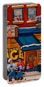 Canadian  Artists Paint Hockey And Montreal Streetscenes Over 500 Prints Available  Portable Battery Charger
