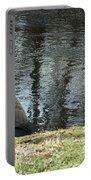 Canadian Geese On Spaulding Pond Portable Battery Charger