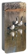 Canadian Geese Watching Portable Battery Charger