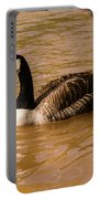 Canadian Goose In On Golden Pond Portable Battery Charger