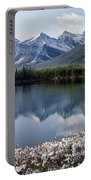 1m3541-canadian Peak Reflected In Herbert Lake Portable Battery Charger