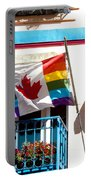 Canadian Rainbow Flag Portable Battery Charger
