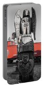 Canadian Totem And Railway Portable Battery Charger