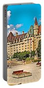 Canadian War Memorial And Chateau Laurier In Ottawa-ontario  Portable Battery Charger