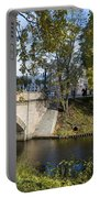 Canal Near Freedom Monument Riga Portable Battery Charger