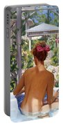 Candace Being Candlish On Canvas Portable Battery Charger