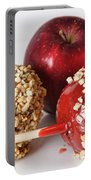 Candied Caramel And Regular Red Apple Portable Battery Charger