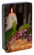Candle And Grapes Portable Battery Charger