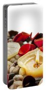 Candle And Petals Portable Battery Charger