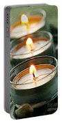 Candles On Green Portable Battery Charger
